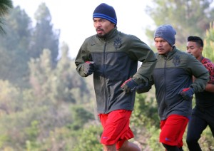Manny Pacquiao training run