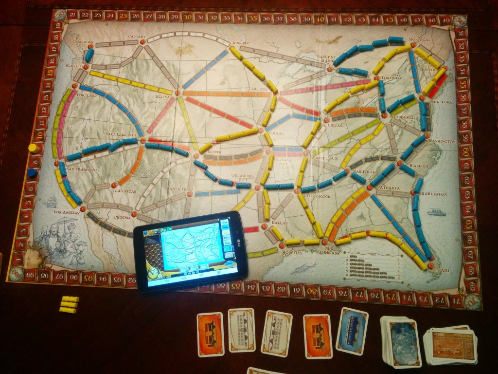 Ticket to Ride board game and app