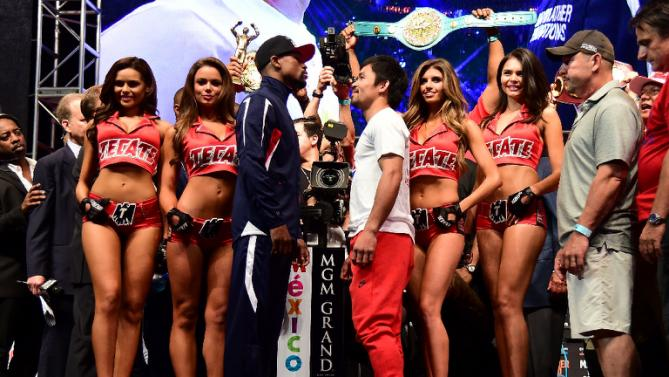 Pacquiao-Mayweather weigh-in.