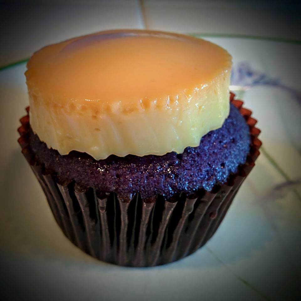 Ube Flan Cupcake