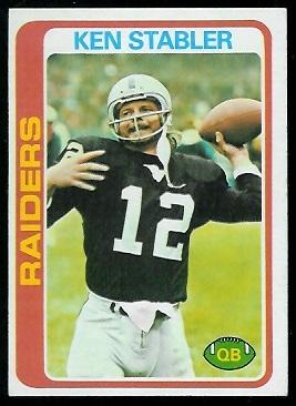 Ken Stabler, Oakland Raiders.