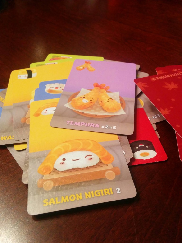 Sushi Go!, one of the 10 new games I've played in 2015.