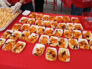 Free sriracha food samples!