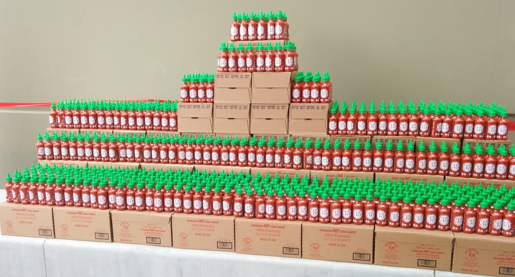 Special 35th anniversary bottles of sriracha