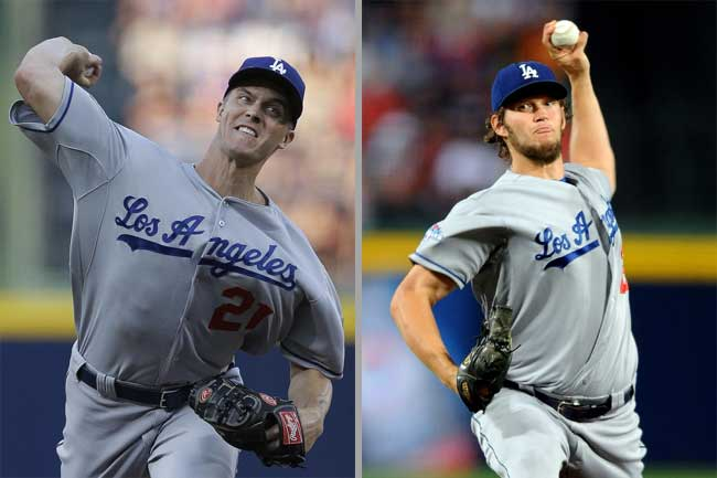 The Dodgers' Greinke and Kershaw.
