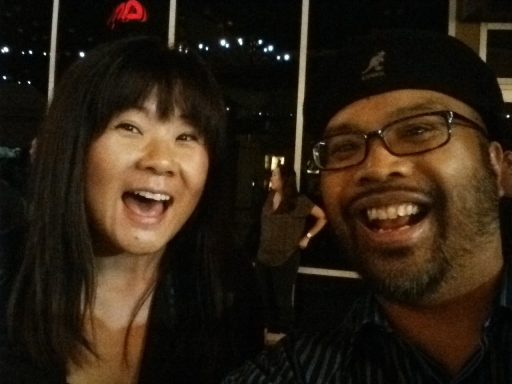 After the show with the hilarious Jenny Yang.
