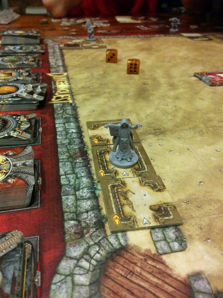 Just a few turns and I'm almost finished. Dungeonquest is brutal.