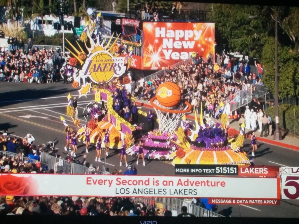 Lakers Rose Parade Float, 2016