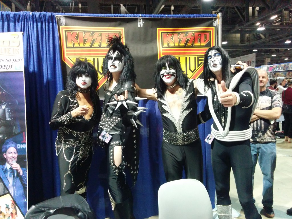 You wanted cosplay, you got cosplay. The hottest (tribute) band in the land ... KISS!