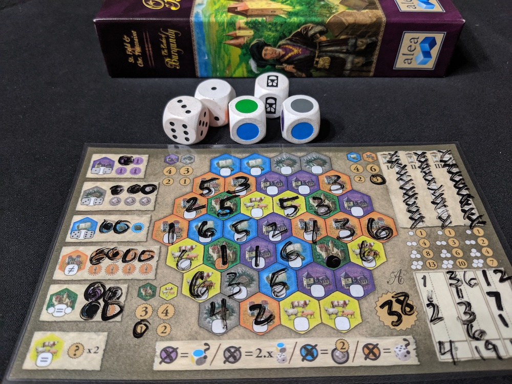 The Day In Gaming September 3 2019 The Castles Of Burgundy The Dice Game Ruel S Blog
